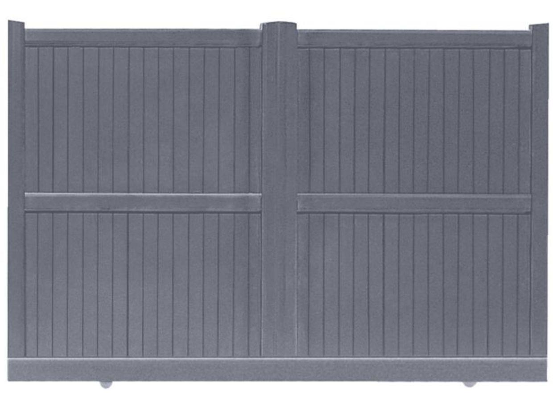 Portail coulissant aluminium ravenne ext rieur - Lapeyre portail coulissant alu ...