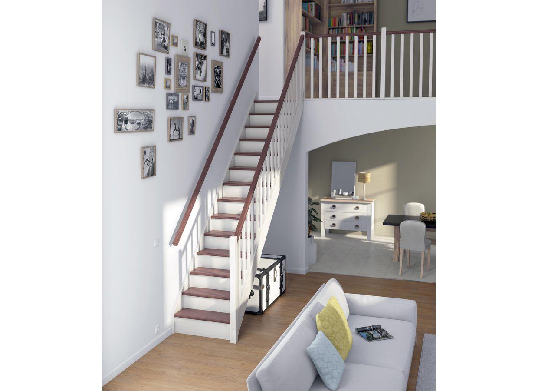 Escalier bois droit personnalisable escaliers - Dimension escalier droit ...