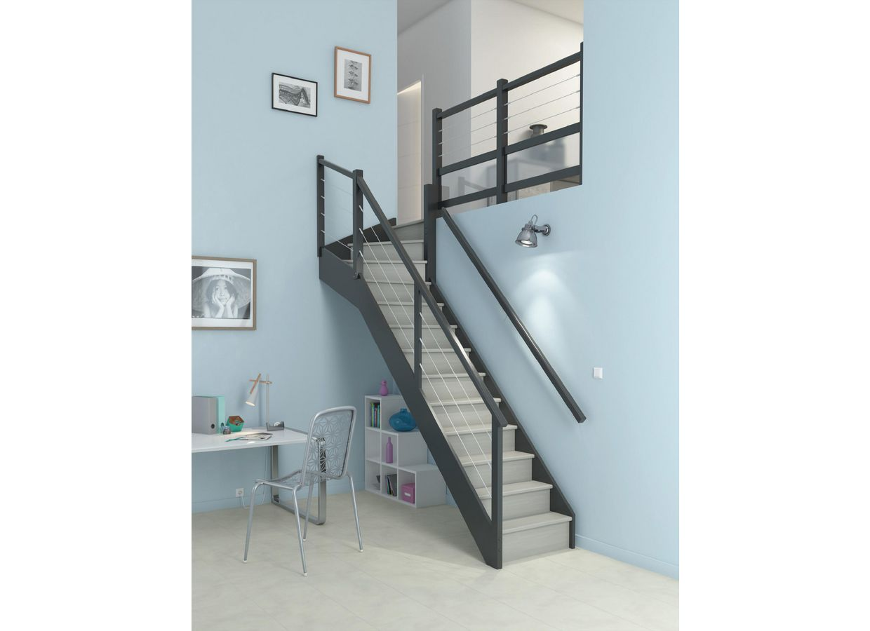 escalier 1 4 tournant gauche fabulous schemas cotables quart tournant haut with escalier 1 4. Black Bedroom Furniture Sets. Home Design Ideas
