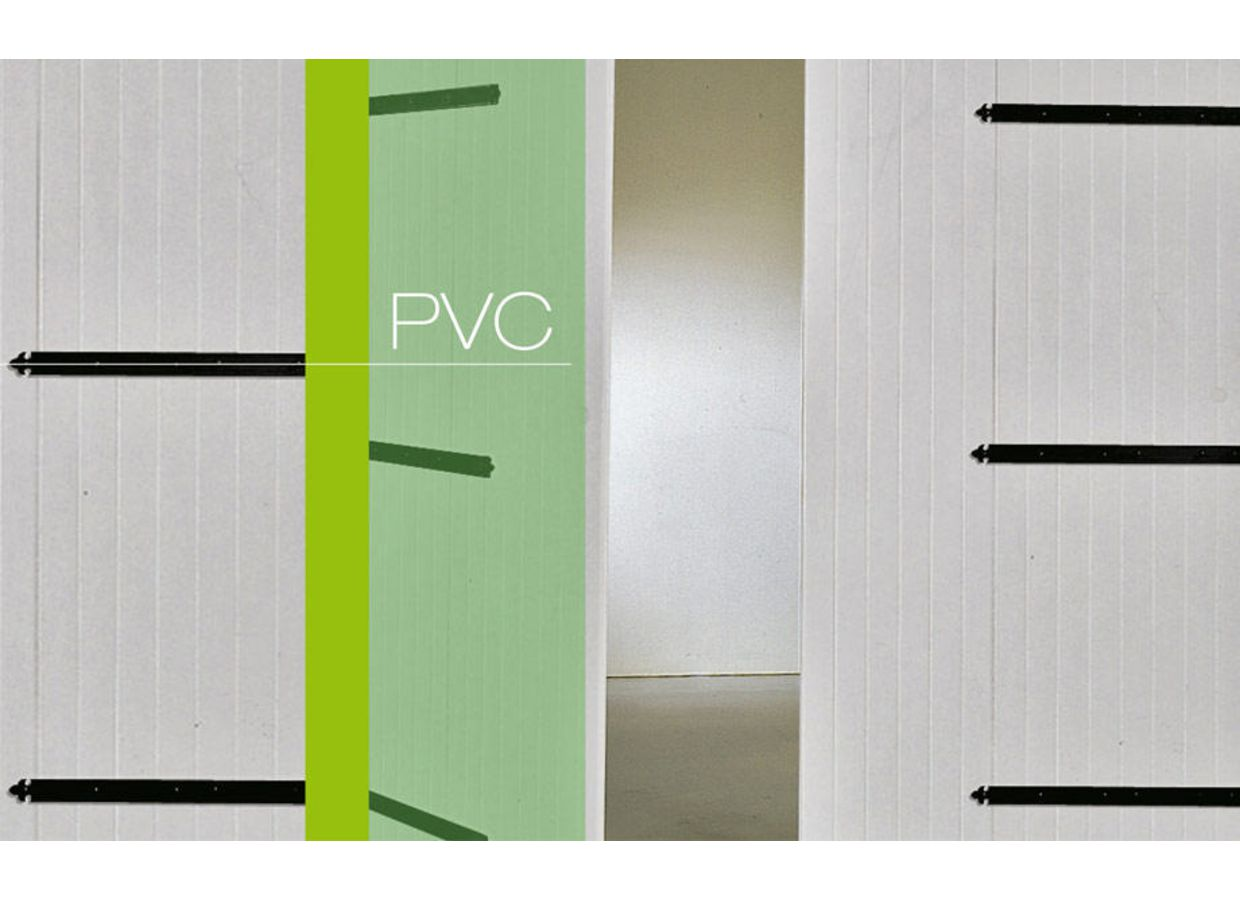 Porte de garage pvc battante ext rieur for Double porte de service pvc