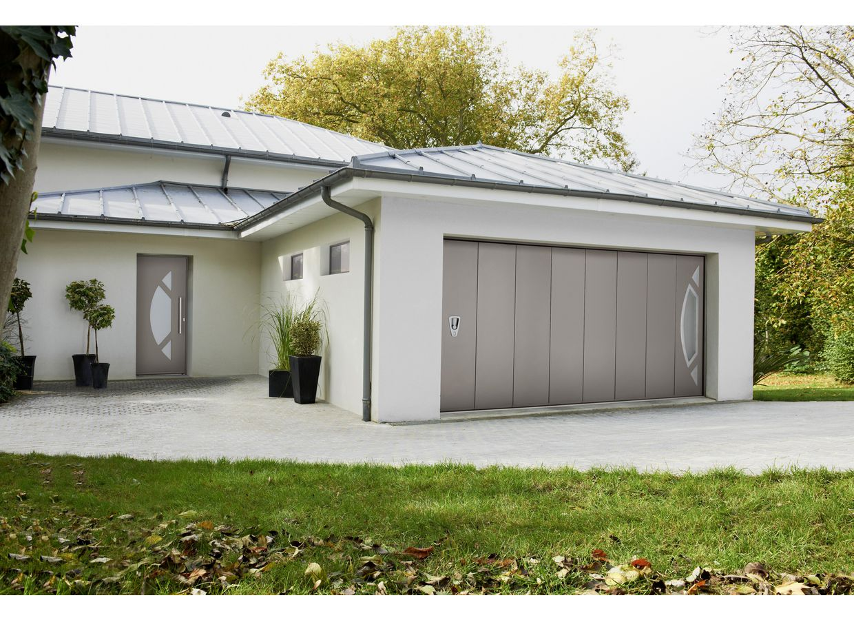 Porte de garage nebraska coulissante ext rieur - Portes garage coulissantes ...