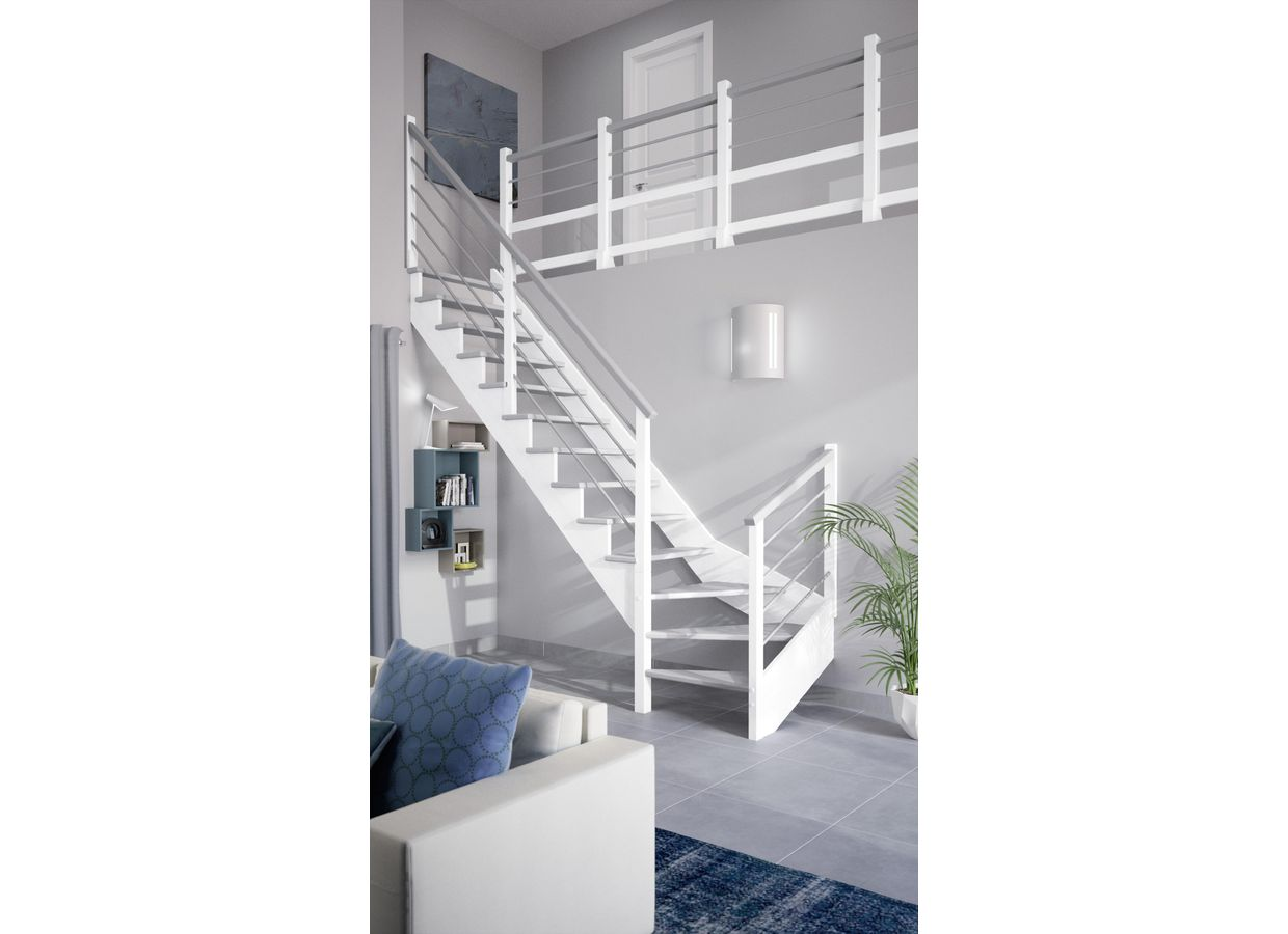 escalier 2 quart tournant lapeyre maison design. Black Bedroom Furniture Sets. Home Design Ideas