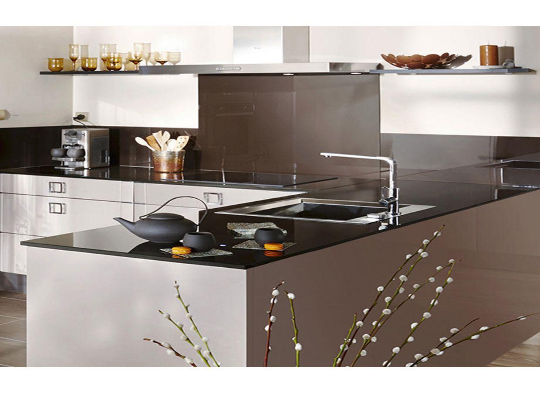 Cr dence verre sur mesure cuisine - Credence en verre trempe pour cuisine ...