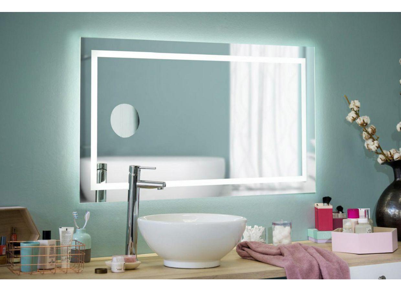 miroirs lumineux de salle de bains salle de bains lapeyre. Black Bedroom Furniture Sets. Home Design Ideas
