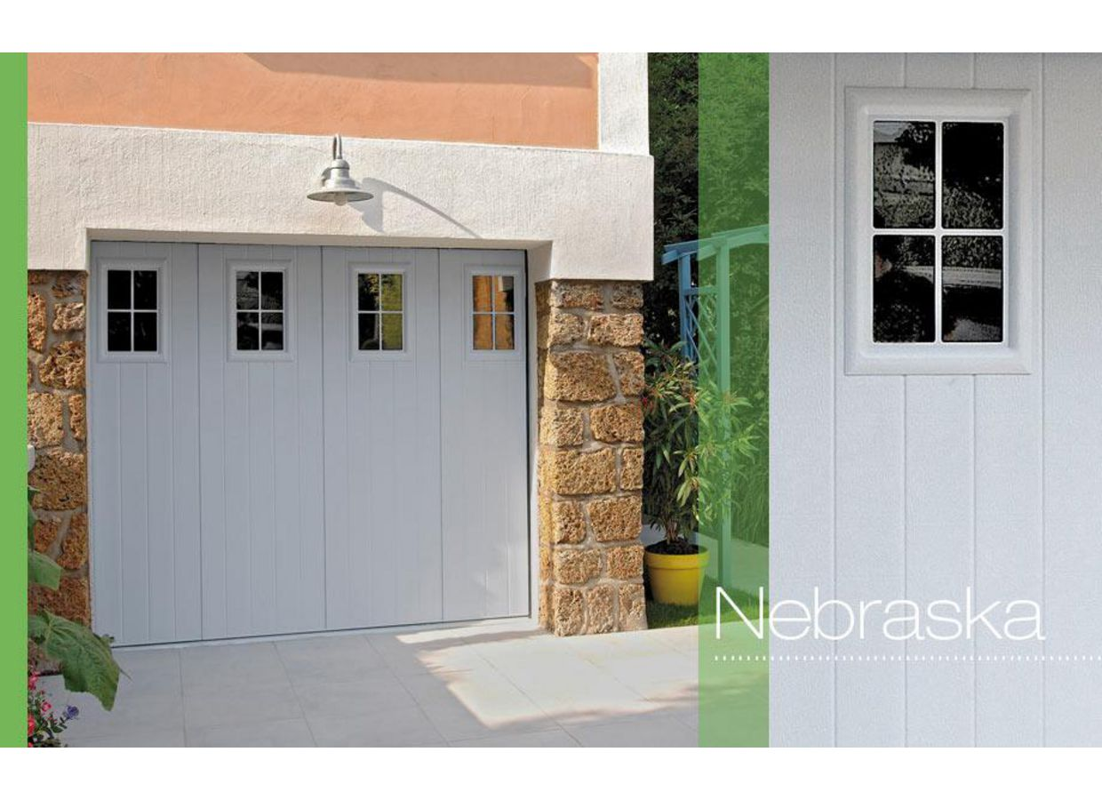 Porte de garage nebraska coulissante ext rieur for Porte de garage moss