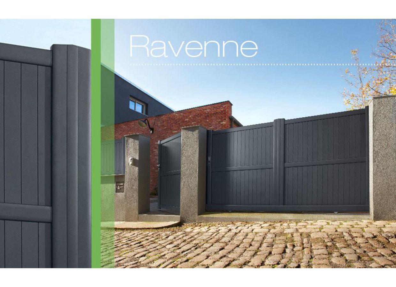 Portail coulissant aluminium ravenne ext rieur for Portail exterieur