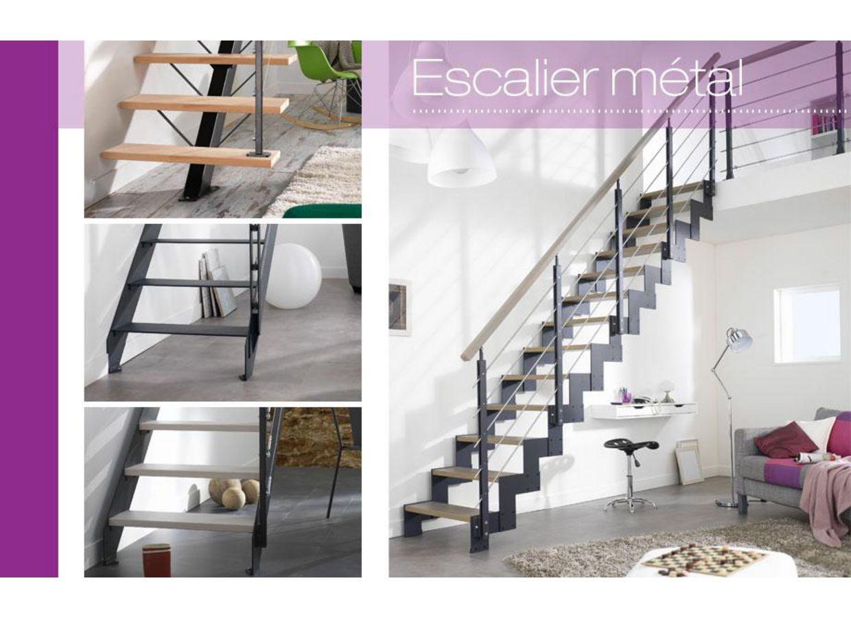 Escalier droit m tal personnalisable escaliers - Escalier droit metal ...