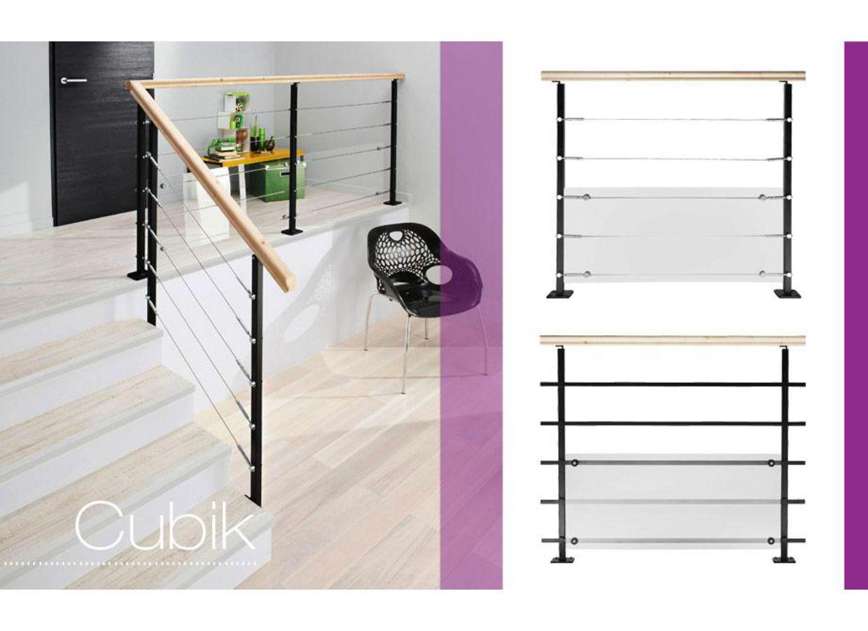 balustrade en acier cubik escaliers. Black Bedroom Furniture Sets. Home Design Ideas