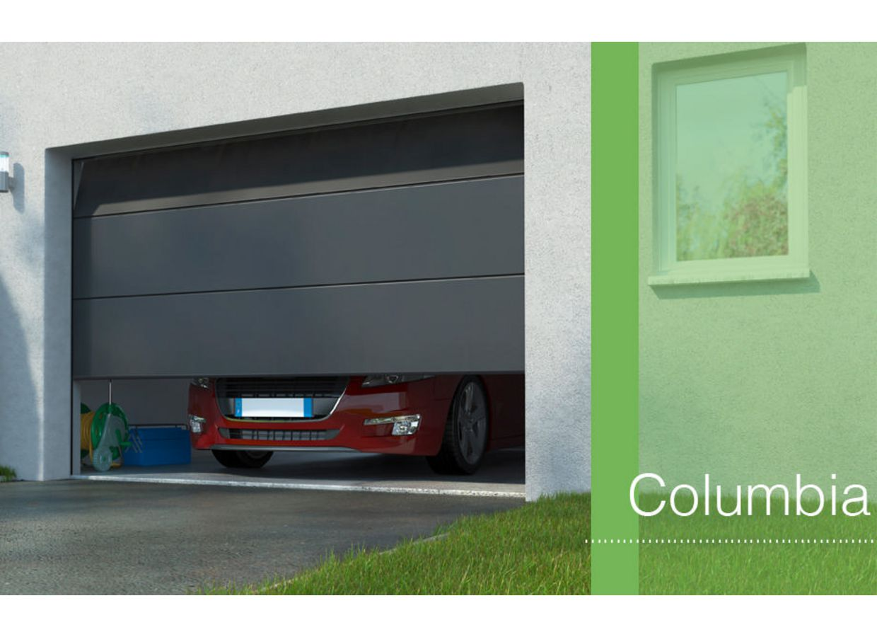 Porte de garage columbia sectionnelle sur mesure ext rieur - Porte de garage sectionnelle motorisee lapeyre ...