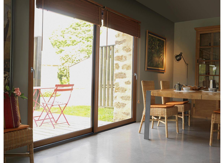 baie coulissante pin ou ch ne fen tres lapeyre. Black Bedroom Furniture Sets. Home Design Ideas