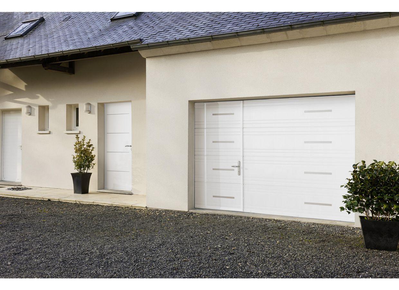 De Garage Michigan Sectionnelle Extérieur - Porte de garage sectionnelle avec poignée de porte pvc a clé
