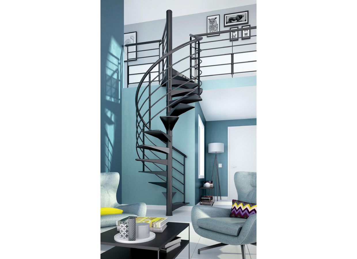 escalier en spiral nova sur mesure escaliers. Black Bedroom Furniture Sets. Home Design Ideas