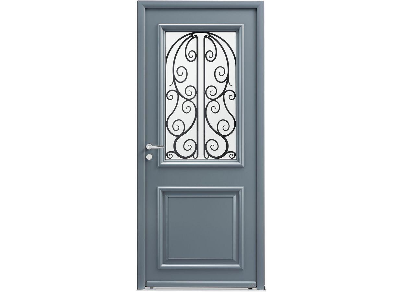 Porte d 39 entr e clairac alu bois portes - Porte d entree bois lapeyre ...