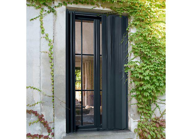 persiennes pliantes aluminium fen tres. Black Bedroom Furniture Sets. Home Design Ideas