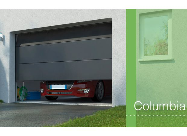 Porte de garage columbia sectionnelle sur mesure ext rieur - Lapeyre porte de garage sectionnelle ...