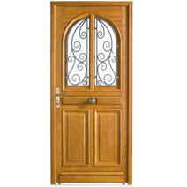 Les portes d entr e en bois for Porte de service lapeyre bois