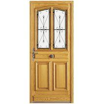 Volets portes et terrasse en bois un cadre ext rieur for Porte harmonie lapeyre