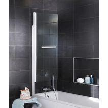 pare baignoire en verre miroir droite tokyo salle de bains. Black Bedroom Furniture Sets. Home Design Ideas