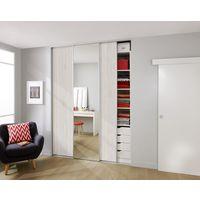 Portes De Placard Rangements Lapeyre - Porte coulissante placard bois