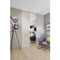 Porte De Placard Coulissante GLISSEO Décor Miroir Profil Anodisé Gris