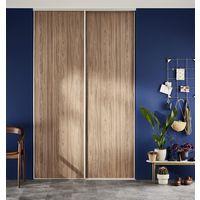 3fb85917548 Porte de placard coulissante GLISSEO décor Noyer