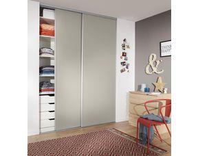 Porte de placard coulissante GLISSEO décor gris