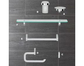 Tablette PLAZZA pour salle de bains