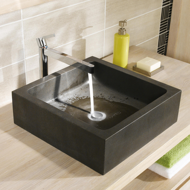 Vasque poser stone salle de bains - Plan de travail salle de bain lapeyre ...