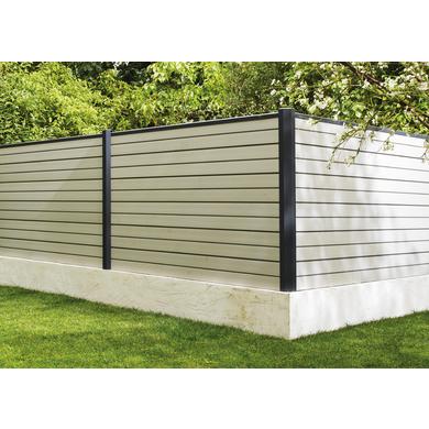pack lames pleines pour cl ture composite ext rieur. Black Bedroom Furniture Sets. Home Design Ideas
