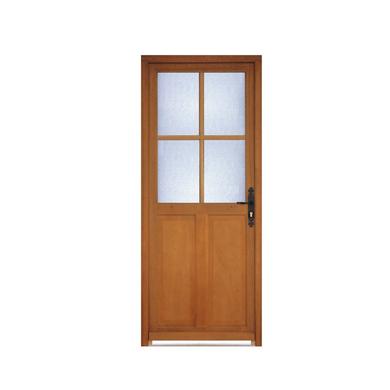Porte d 39 entr e montoire bois exotique portes for Porte de service bois lapeyre