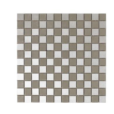 Carrelage mosa que inox unik 2 5 x 2 5 cm trame sols murs for Lapeyre carrelage mosaique