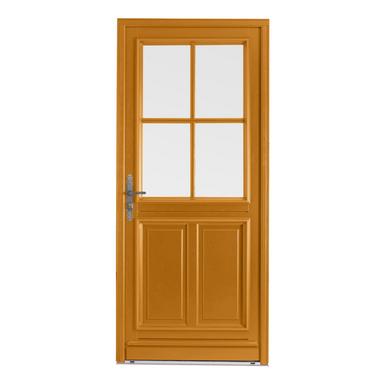 Porte d 39 entr e chaumont bois exotique menuis portes - Porte coulissante interieur lapeyre ...