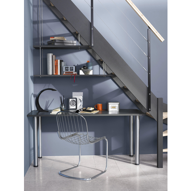 am nagements sous escaliers bureau rangements. Black Bedroom Furniture Sets. Home Design Ideas