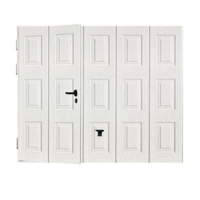 De Garage Noviso Basculante Isolante Manuelle Avec Portillon Extérieur - Porte de garage basculante avec portillon