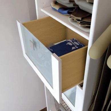 tiroir fa ade verre cm pour dressing espace rangements. Black Bedroom Furniture Sets. Home Design Ideas