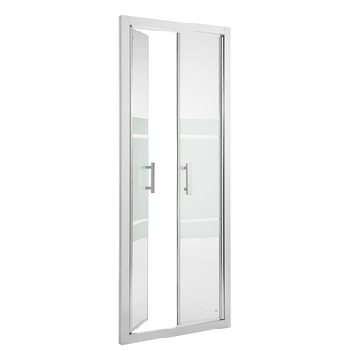 Acc s de face par porte battante vogue salle de bains for Porte 2 battants interieur