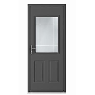 Porte d 39 entr e grenat blanc acier portes - La porte exterieure ...