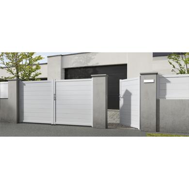 Portail Battant Aluminium Bari Exterieur