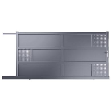 portail coulissant aluminium lugano ext rieur. Black Bedroom Furniture Sets. Home Design Ideas