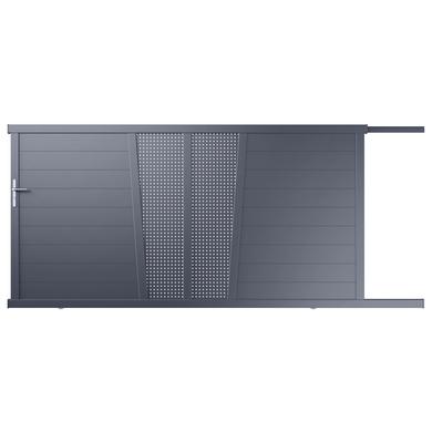 portail coulissant aluminium pise ajour d cor carr ext rieur. Black Bedroom Furniture Sets. Home Design Ideas