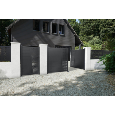portillon aluminium pise d cor carr ext rieur. Black Bedroom Furniture Sets. Home Design Ideas