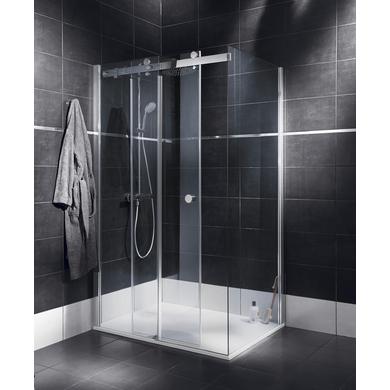 Porte de douche coulissante palace avec paroi de retour 77 for Lapeyre paroi de douche