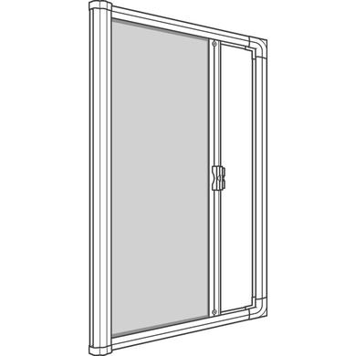 moustiquaire enroulement lat ral recoupable h230 x 140cm fen tres. Black Bedroom Furniture Sets. Home Design Ideas