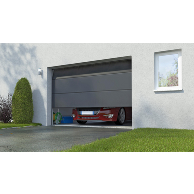 Porte de garage columbia sectionnelle en kit motoris e somfy ext rieur - Porte de garage motorisee somfy ...