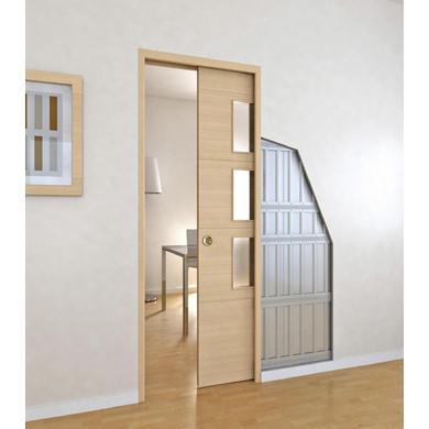 Syst me coulissant prestige uno int gr pour 2 portes sans serrure avec poign e chrom e portes - Poignees de portes interieures lapeyre ...