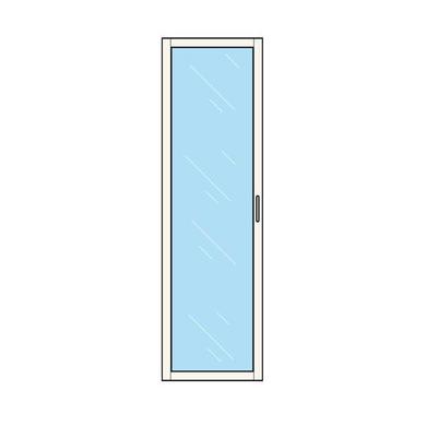 dressing espace porte vitr e h 204 x p 35 cm rangements. Black Bedroom Furniture Sets. Home Design Ideas