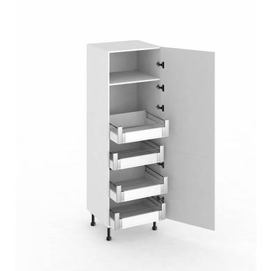 meuble reserve avec 4 tiroirs casseroliers l 39 anglaise cuisine. Black Bedroom Furniture Sets. Home Design Ideas