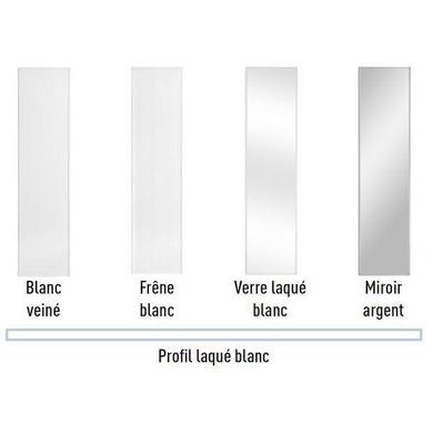 Porte De Placard Coulissante Glisseo Decor Verre Laque Blanc
