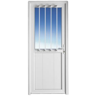 Porte de service ouessant pvc avec grille portes for Porte de service vitree en pvc