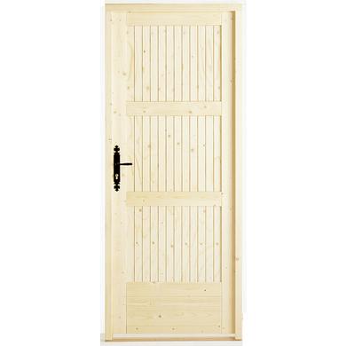 Porte de service romilly sapin portes - Porte de service hauteur 180 ...